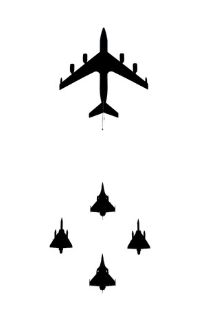 French military planes in flight