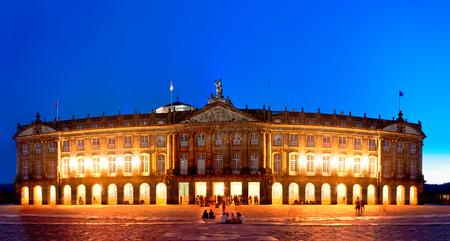 building of Council of Galician Culture in square Obradorio, Santiago de Compostela, Spain.