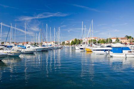 Photo for Marina of Porec harbor, Croatia - Royalty Free Image