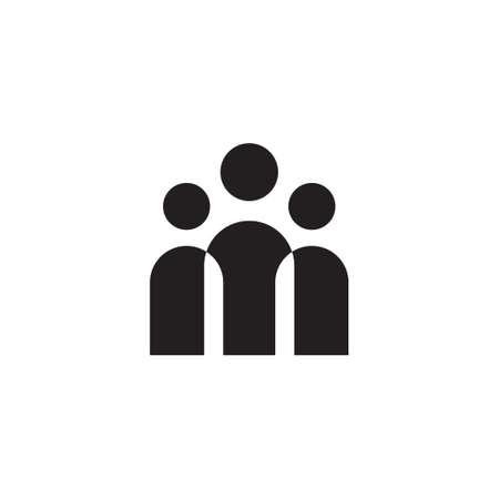 Illustration pour crowd vector icon design - image libre de droit