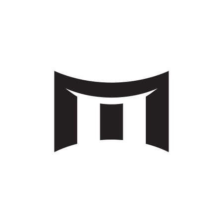 Illustration pour m initial letter vector logo icon - image libre de droit