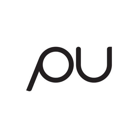 pu initial letter vector logo icon