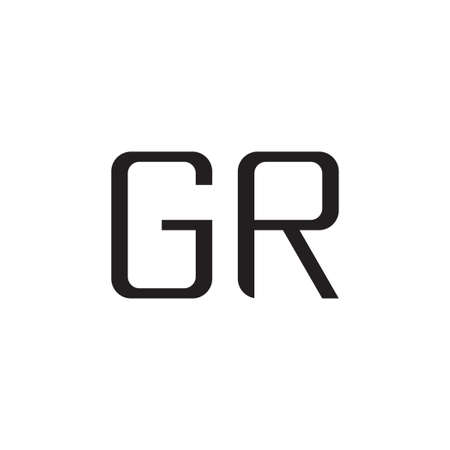 gr initial letter vector logo icon