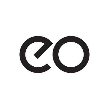 Ilustración de eo initial letter vector logo - Imagen libre de derechos