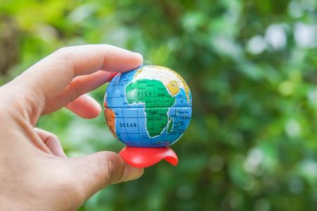 Foto de environment concept to save the world is people responsibility - Imagen libre de derechos