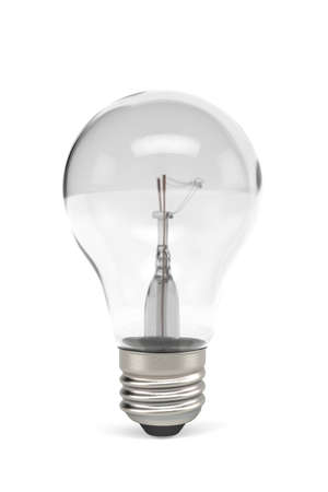 Photo for Light bulb isolated on white background - copy space - 3d render - Royalty Free Image