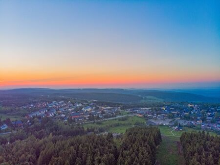 Health resort Altenberg in Saxony in spring
