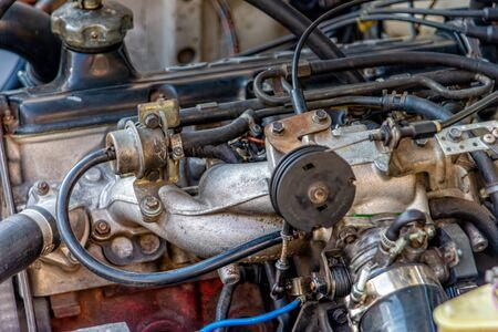 Photo pour Engine block from a car - image libre de droit