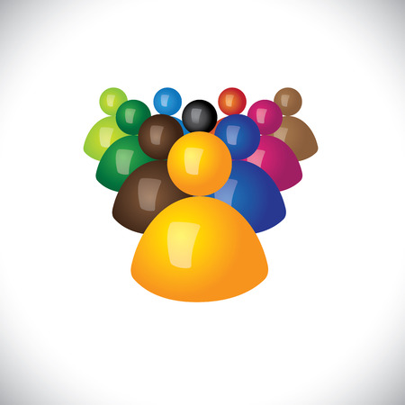 colorful 3d icons or signs of office staff or employees