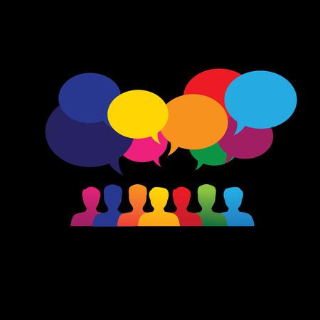 Illustration pour online people icons in social network & media  - image libre de droit