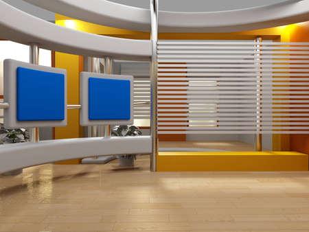 Photo pour background studio for tv chroma - image libre de droit