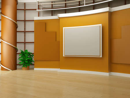 Photo for studio tv background chroma - Royalty Free Image