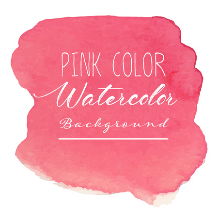 Illustration for Pink abstract watercolor background. Vector illustration. - Royalty Free Image