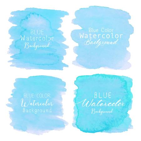 Illustration pour Blue abstract watercolor background. Watercolor element for card. Vector illustration. - image libre de droit