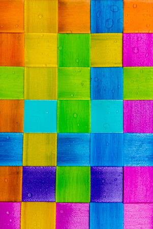 Colorful square plastic wallpaper