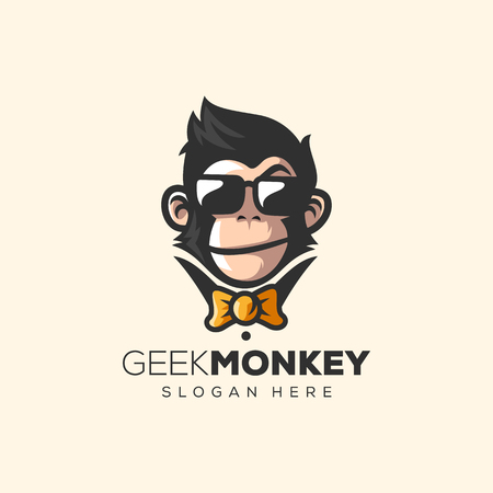 Illustration pour awesome monkey logo vector illustration - image libre de droit