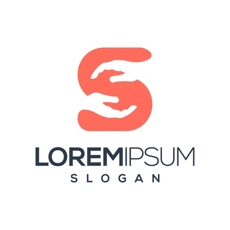 Illustration pour letter S hand logo design,vector,illustration ready to your company - image libre de droit