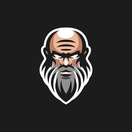 Illustration pour old men logo design vector illustration - image libre de droit