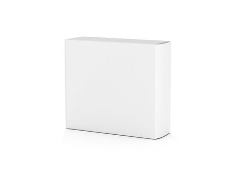 blank white horizontal box on white background for designs3d illustration