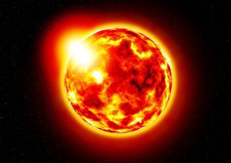 Photo pour The Sun.Burning of the sun - image libre de droit