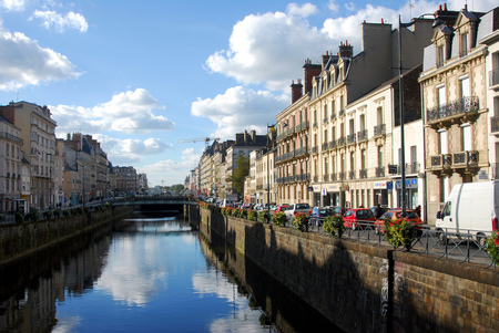 Quays of the city of Rennes