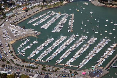 Aerial view of the port of La-Trinit?-sur-Mer