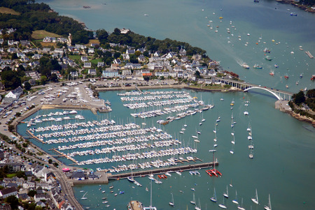 Aerial view of La Trinit?-sur-Mer harbor