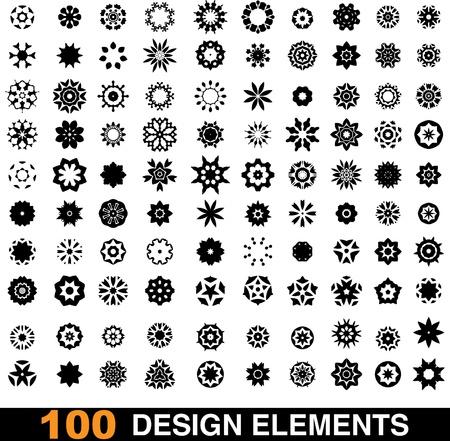 set of 100 design elements