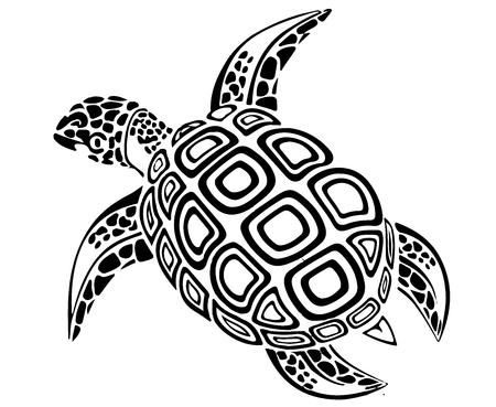 Illustration pour Black turtle. - image libre de droit