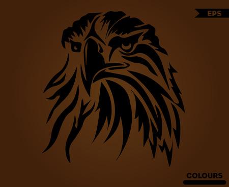 Ilustración de Angry American Eagle - Imagen libre de derechos