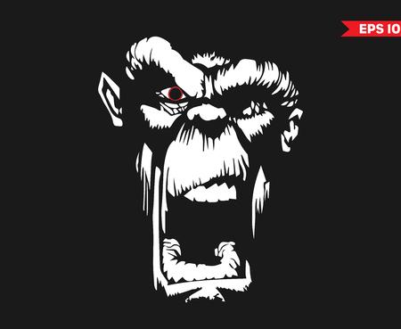 Illustration pour Angry Ape - image libre de droit