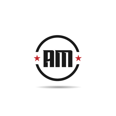 Initial Letter AM Logo Template Design