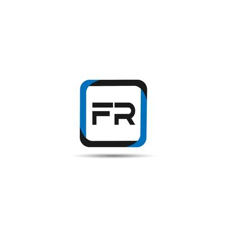 Initial Letter FR Logo Template Design