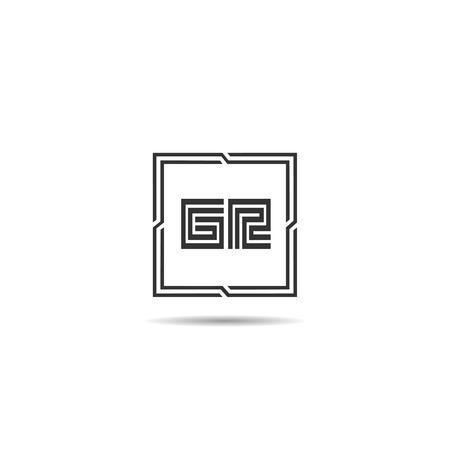 Initial Letter GR Logo Template Design