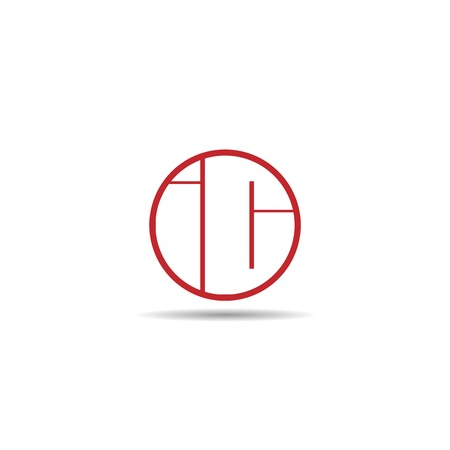 Initial Letter IC Logo Template Design