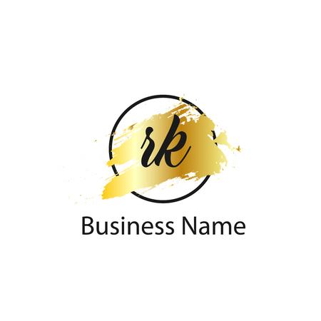 Initial Letter RK Logo Template Design