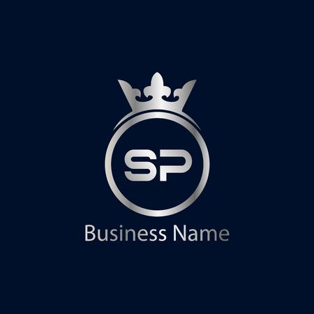 Initial Letter SP Logo Template Design