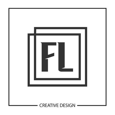 Initial Letter FL Template Design Vector Illustration