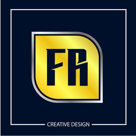 Initial Letter FR Template Design Vector Illustration