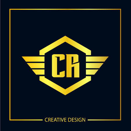 Initial Letter CR Template Design