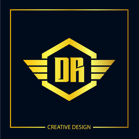 Initial Letter DR Template Design