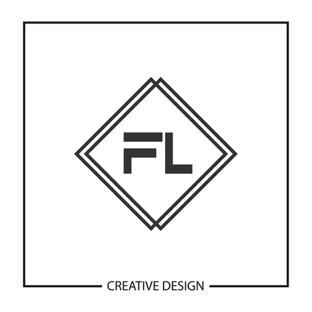 Initial Letter FL Template Design