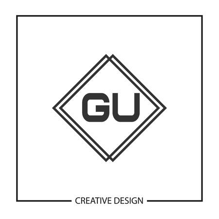 Initial Letter GU Template Design