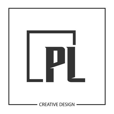 Initial PL Letter Logo Template Design