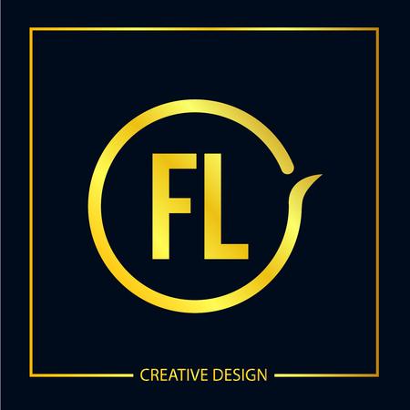 Initial FL Letter Logo Template Design