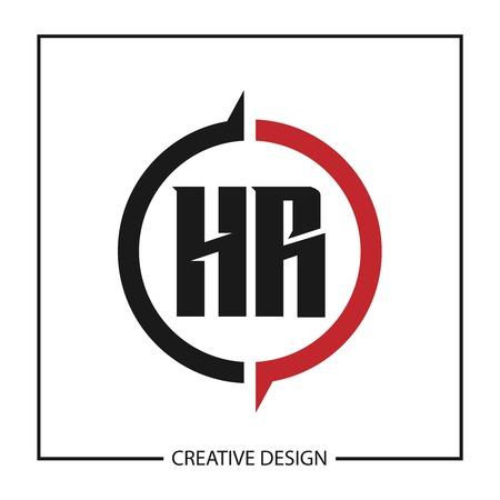 Illustration pour Initial Letter HR Logo Template Design - image libre de droit