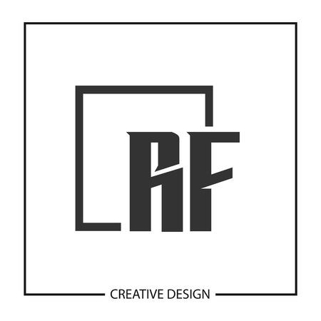 Initial Letter RF Logo Template Design