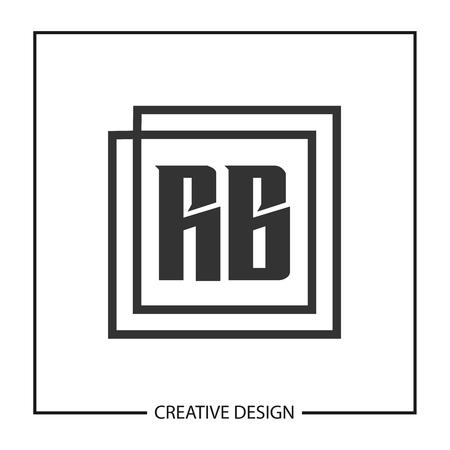 Initial Letter RB Logo Template Design