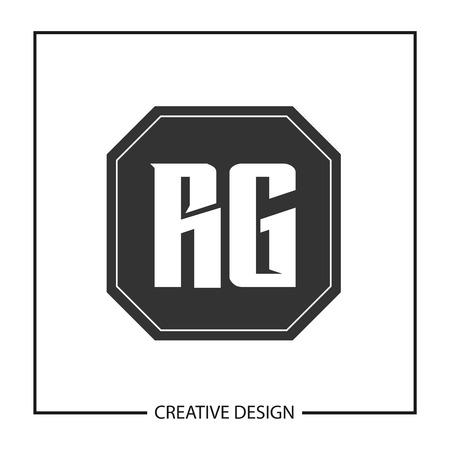 Initial Letter RG Logo Template Design