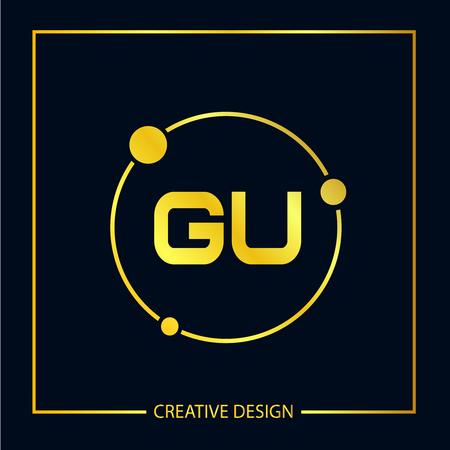 Initial Letter GU Logo Template Design